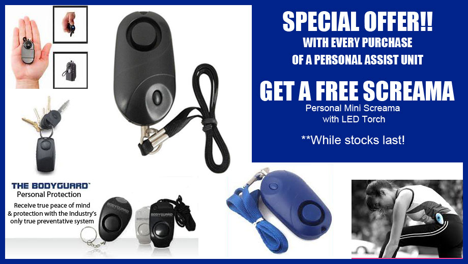 Free personal screama alarm with order